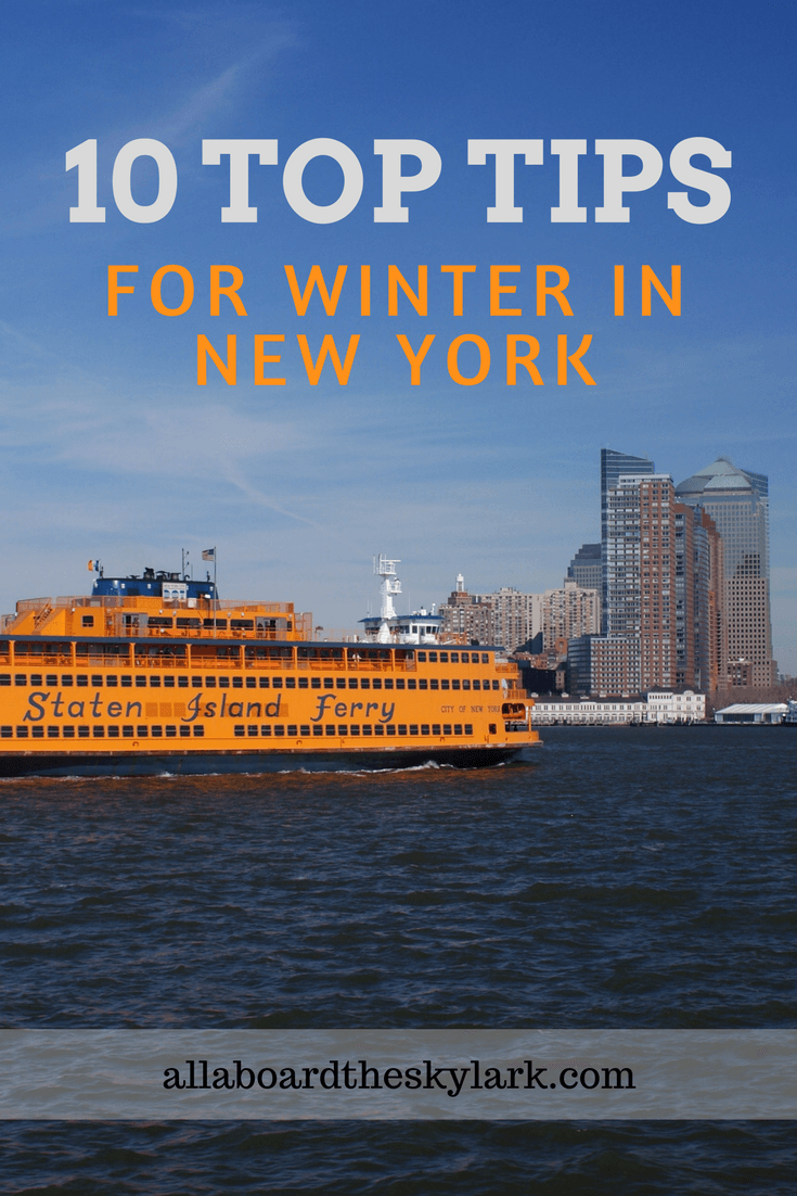 10 Top Tips Winter in NYC