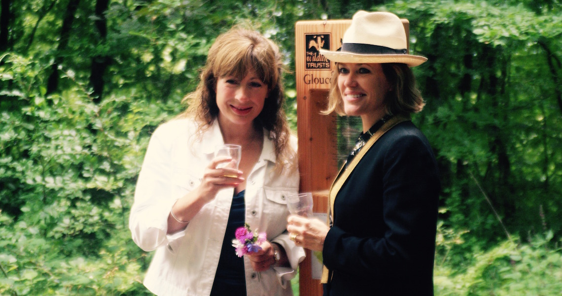 Cerys Matthews & Jessy Lee at the official opening (© Sara Chardin)