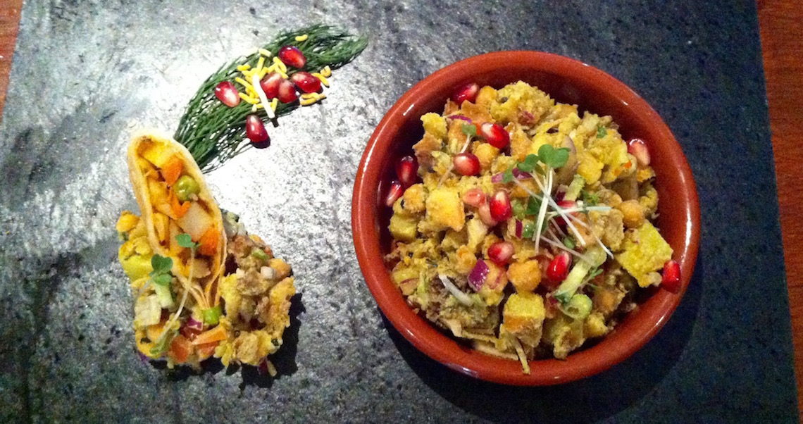 Our version of Samosa Chaat at East India Cafe