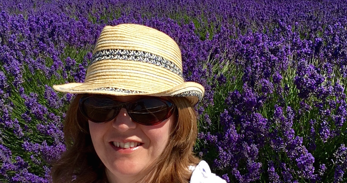 Me at Cotswold Lavender