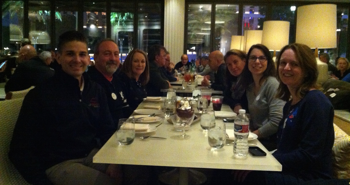 Our group waiting for dessert at Hexx