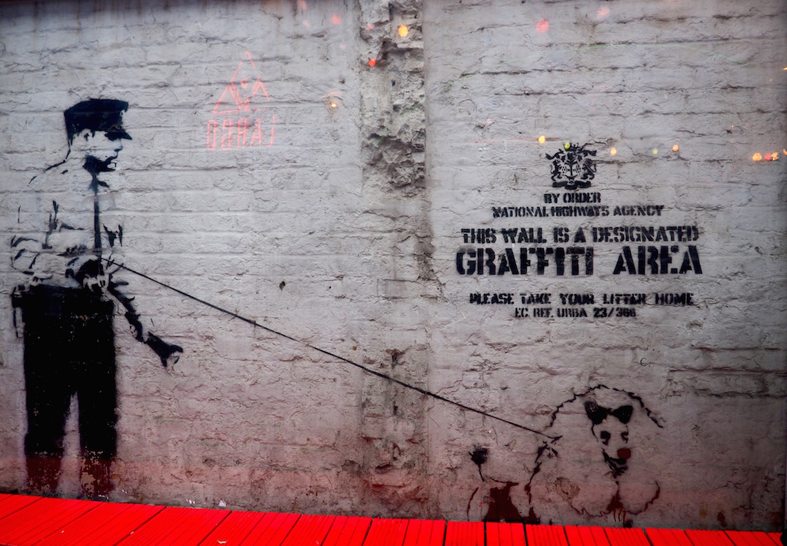 A Banksy on the Shoreditch Street Art Tour
