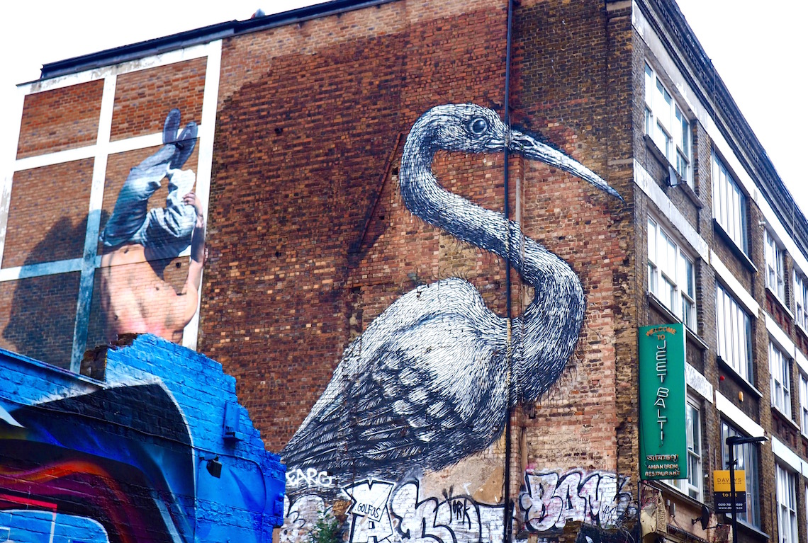 Work by ROA on the Shoreditch Street Art Tour