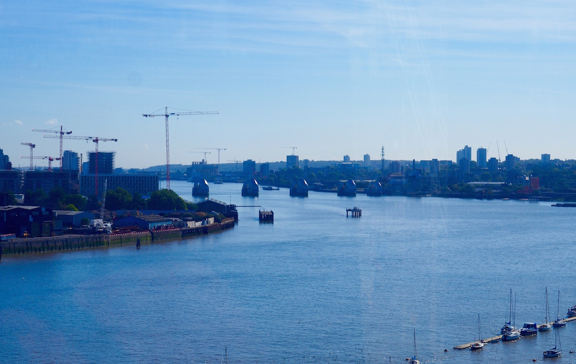 The Thames Barrier on London's East Side