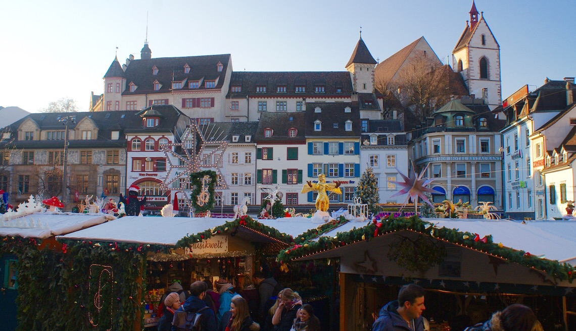 Christmas Market at Barfusserplatz