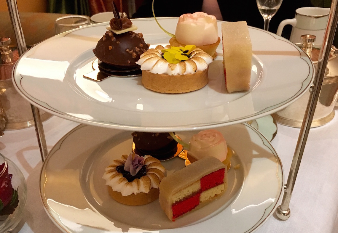 Cakes at afternoon tea at The Dorchester
