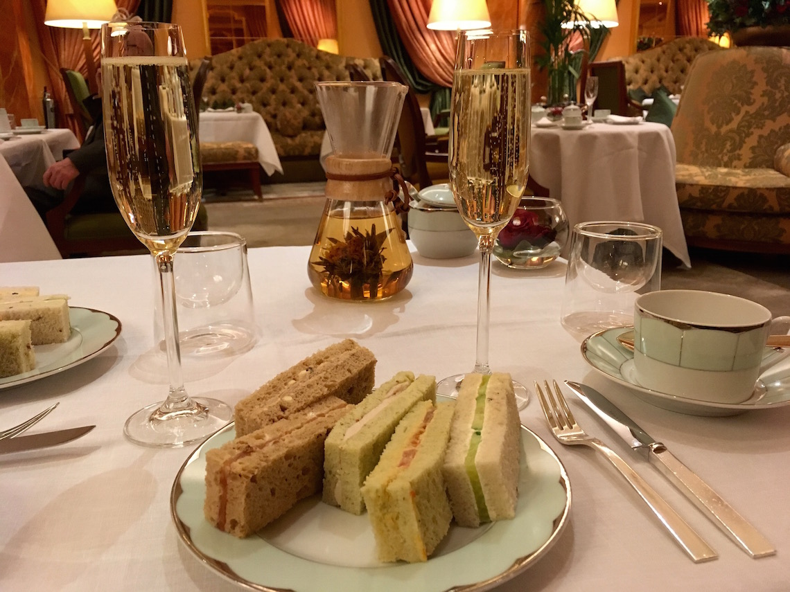 Finger sandwiches at afternoon tea at The Dorchester
