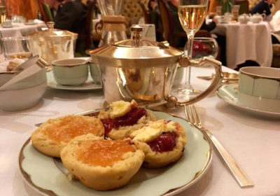 Scones at afternoon tea at The Dorchester