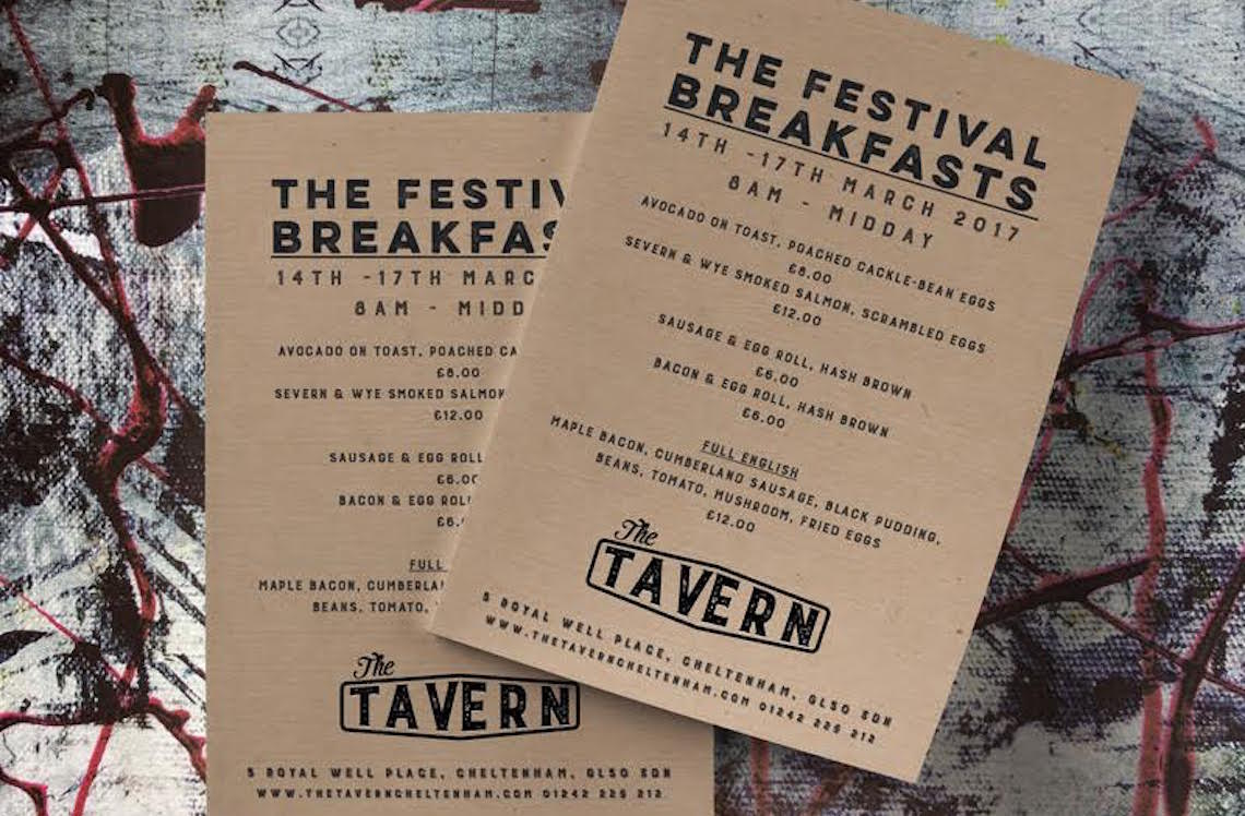 The Tavern, breakfast Cheltenham Race Week