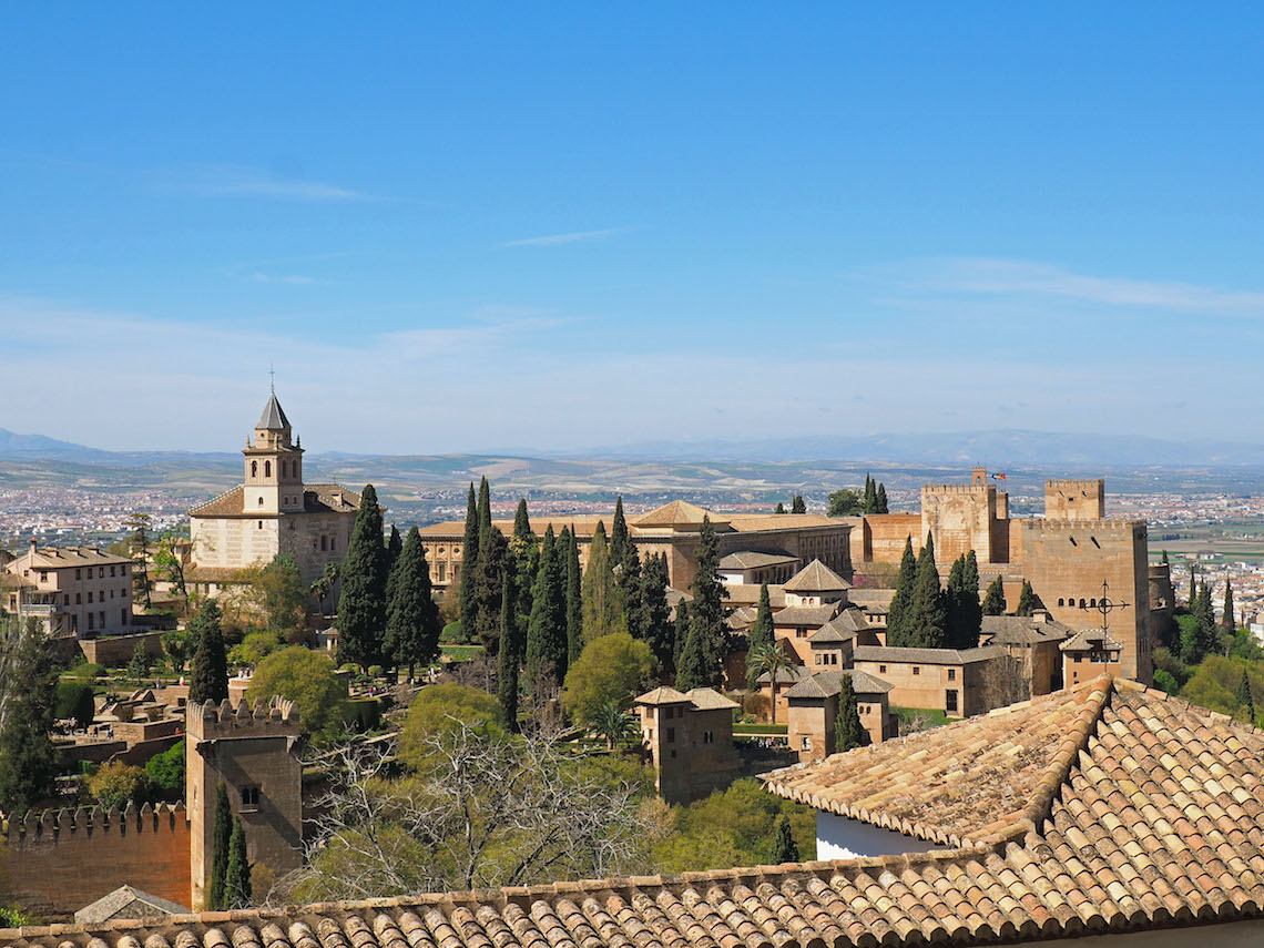 First glimpse of the Alhambra Palace complex