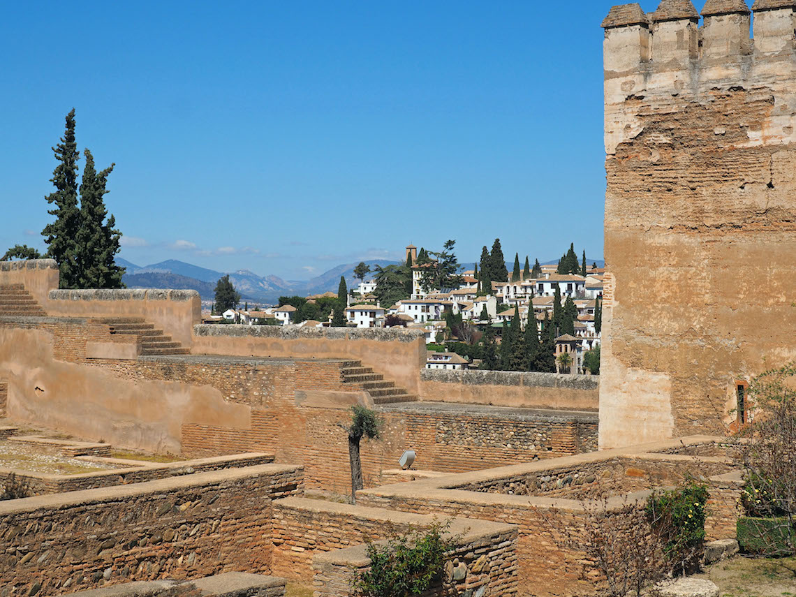 The Alcazaba, the oldest part of the Alhambra