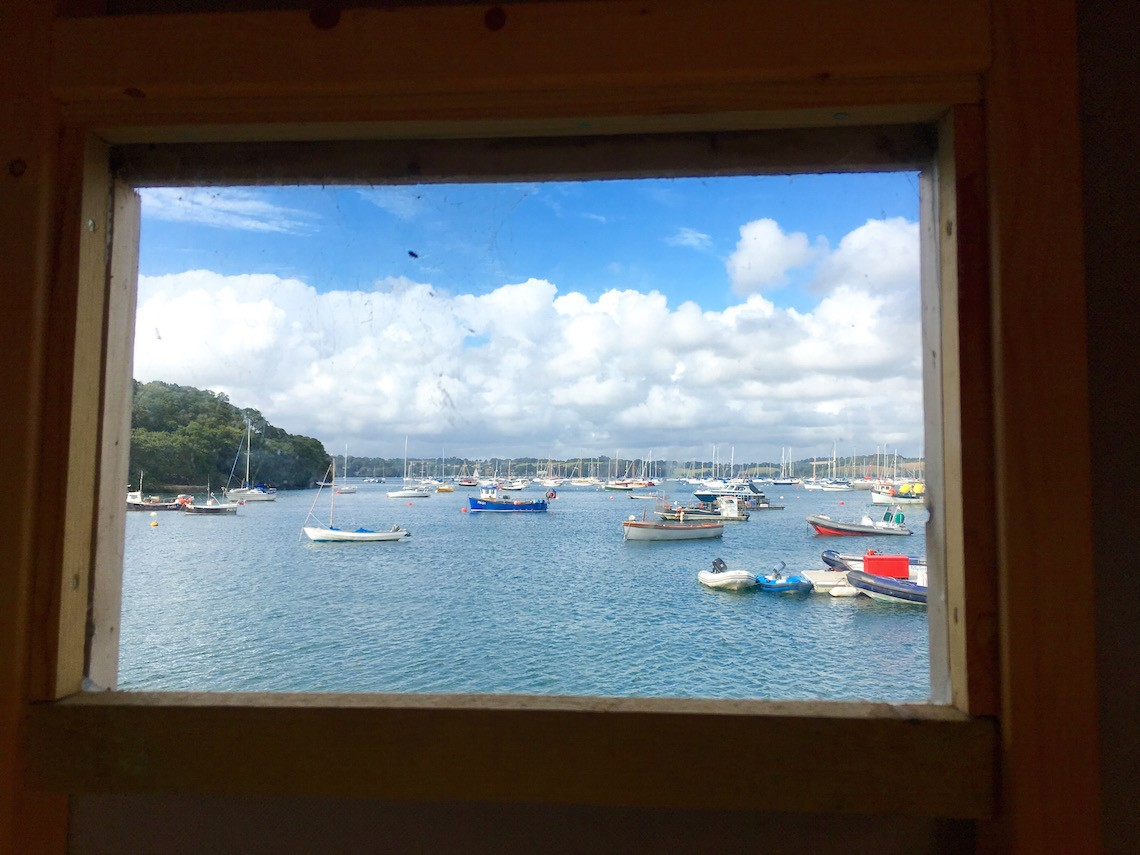 Changing room with a view at Mylor Sailing School