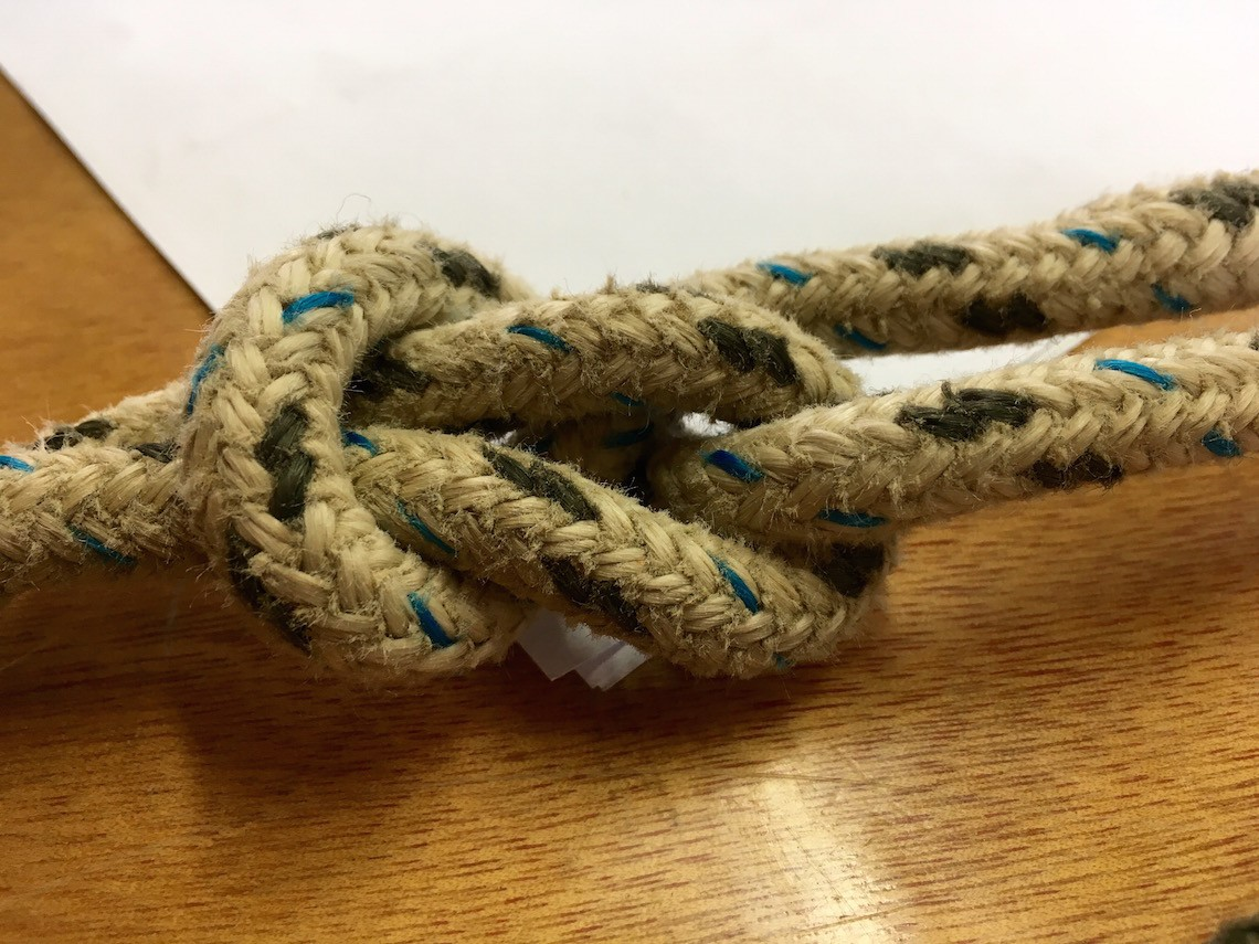 Knot tying lessons, learning to sail in Cornwall