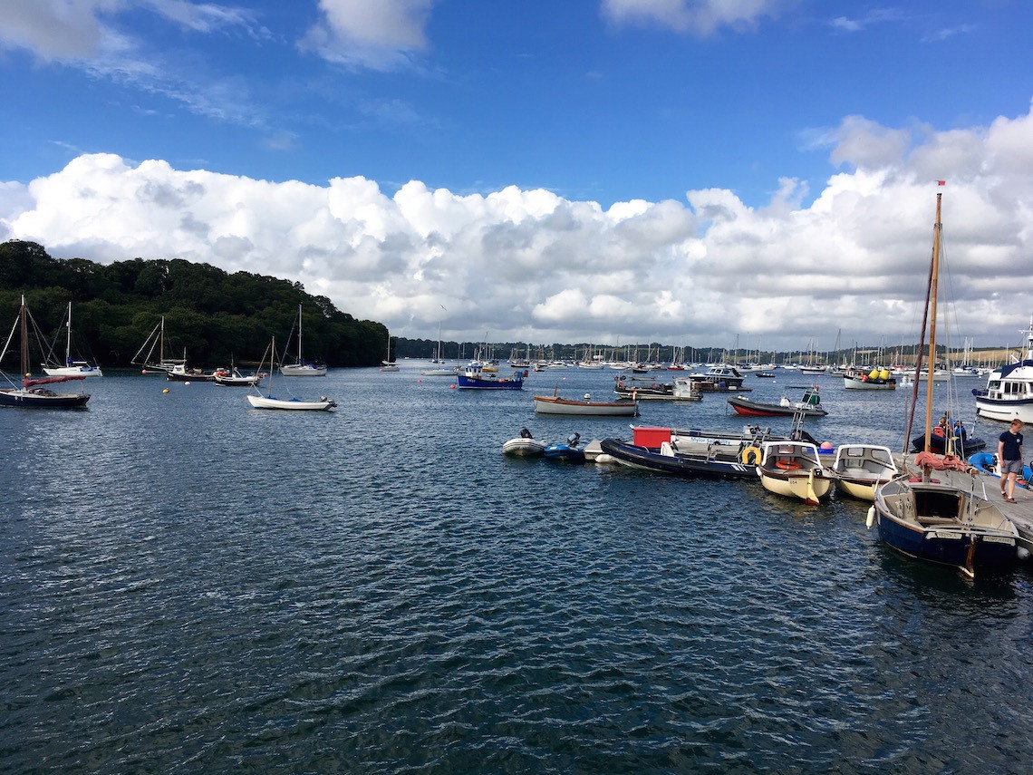 The River Fal, learning to sail in Cornwall