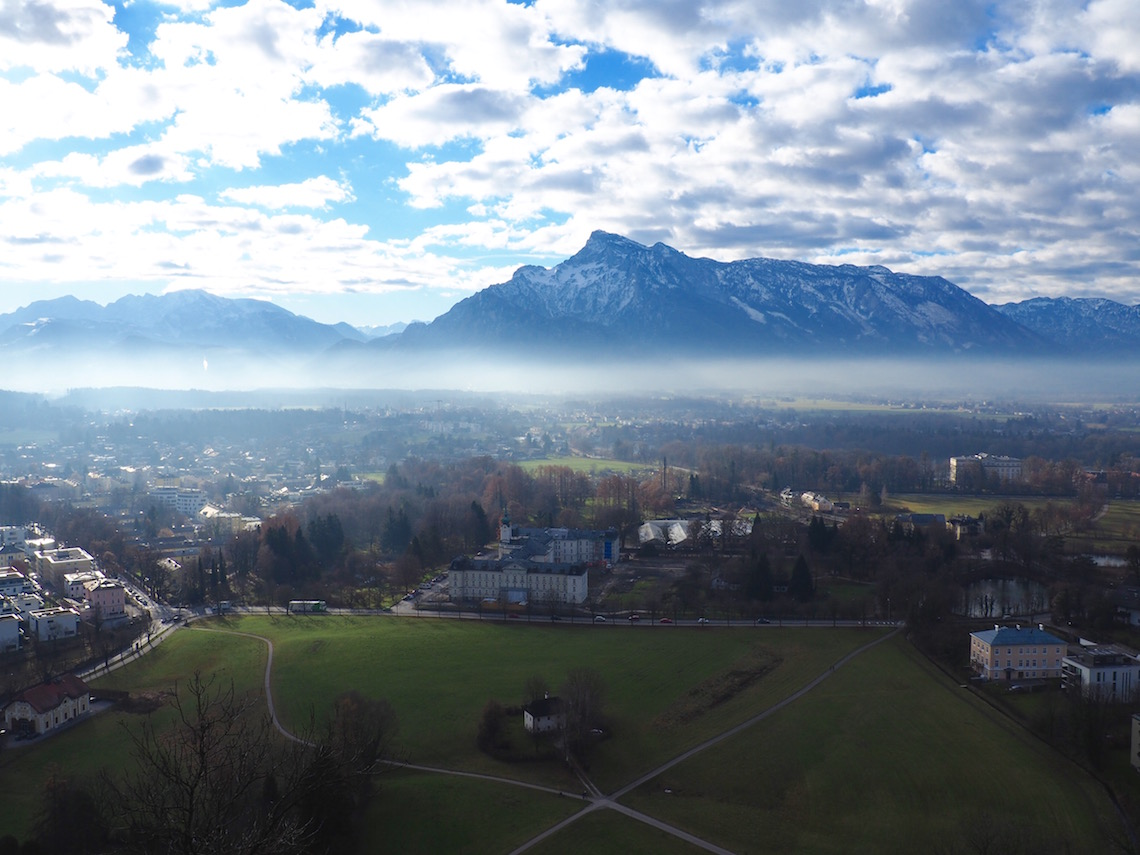 Mountain view from Fortress Hohensalzburg