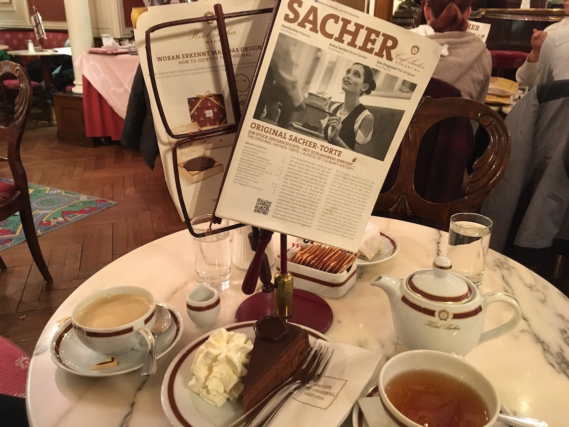 Sacher Torte at the Cafe Sacher