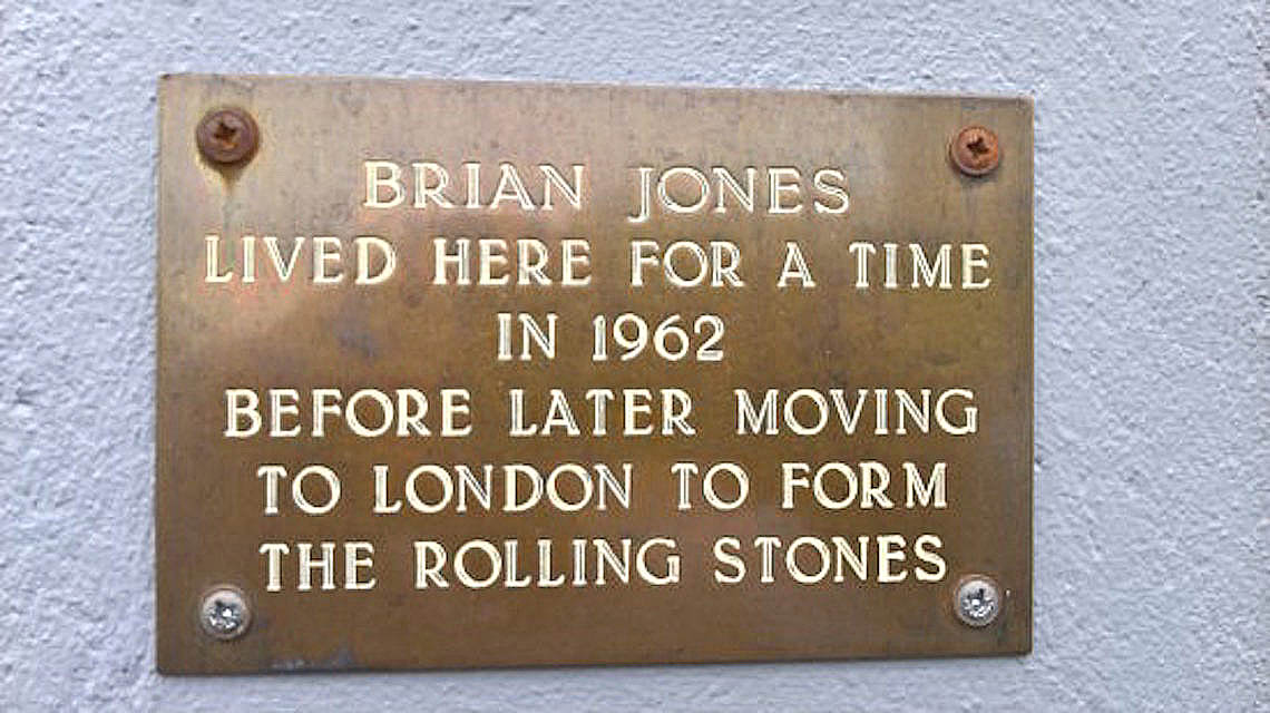 Brian Jones lived here